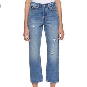 Levi's Wedgie Straight Leg Selvedge Jeans